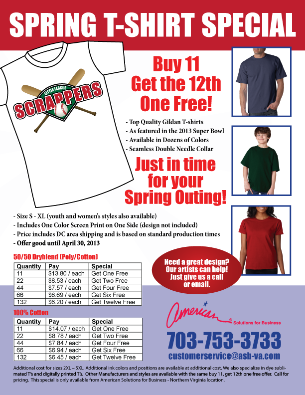 Spring T-Shirt Sale